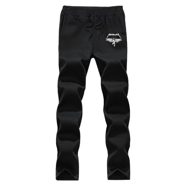 Corredores dos homens banda Americana de heavy metal padrão corredores de lã calça Casual calças masculinas de outono e inverno dos homens magro calças