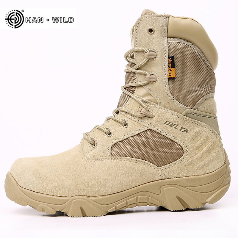 2019 Winter Men Boots Tactical Military Special Force Waterproof Leather Desert Work Shoes Men's Combat Army Ankle Boot