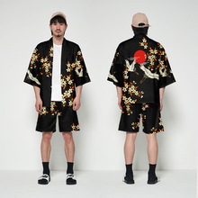2019 New Japanese Kimono Suit Cardigan Men Traditional Yukata Summer Loose Print Long Clothes Jacket