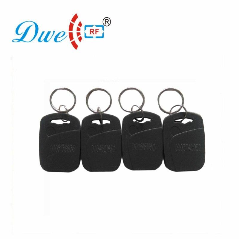DWE CC RF 125khz/13.56mhz Rfid Keyfobs Black EM4100 Access Control Card Tag For RFID Reader K005 dwe cc rf wiegand26 125khz rfid id card tag keyfob reader waterproof access control wg26