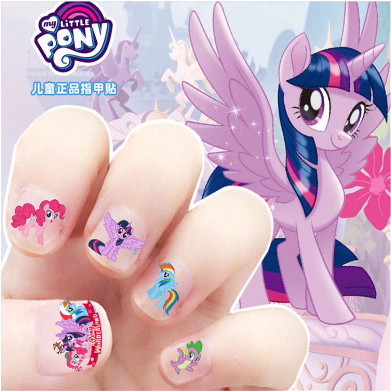 My Little Pony Children's Nails Stickers Frozen Princess Disney Girls Baby Cartoon Kids Waterproof Elsa Anna Nail Stickers Toys