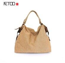 AETOO Весной новый женская сумка холщовый мешок поколение, чтобы поддержать смешанную серию искусства Вентилятор
