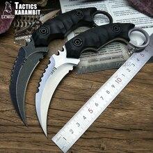 Cuchillo de garra de escorpión LCM66 Tactics karambit, campamento al aire libre, jungla, supervivencia, hoja fija, cuchillo de caza, herramienta de defensa personal