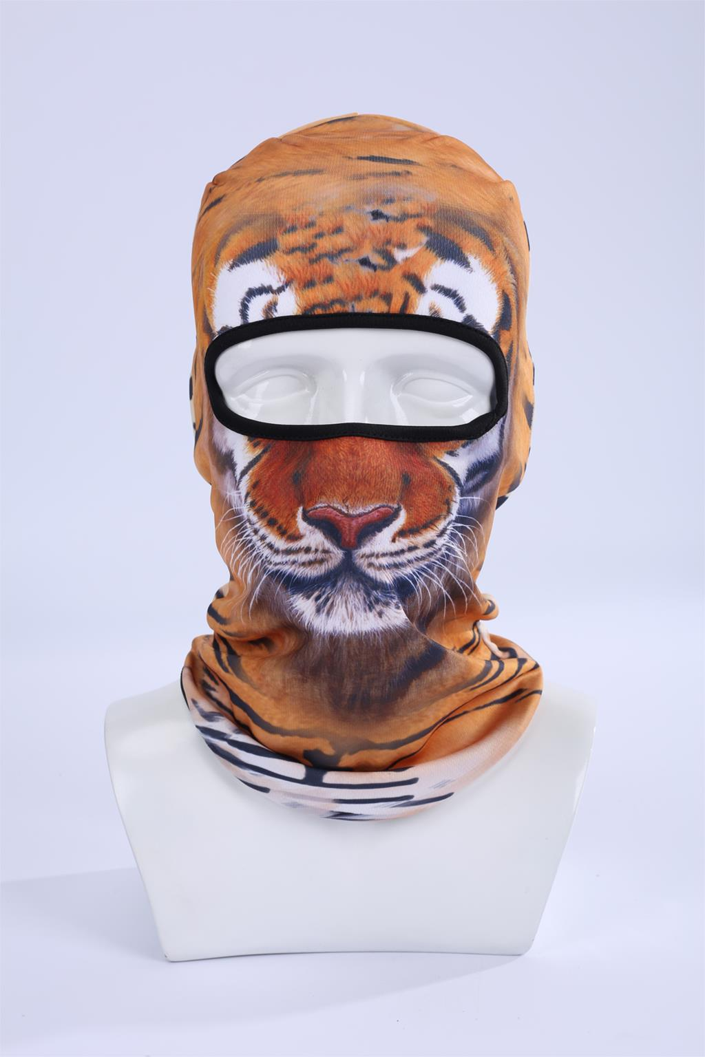 Hot Sale 2016 Cool ! 3d Tiger Animal Ski Hood Hat Balaclava Full Face Mask Outdoor Sports Bicycle Cycling Masks Bbb05 недорого
