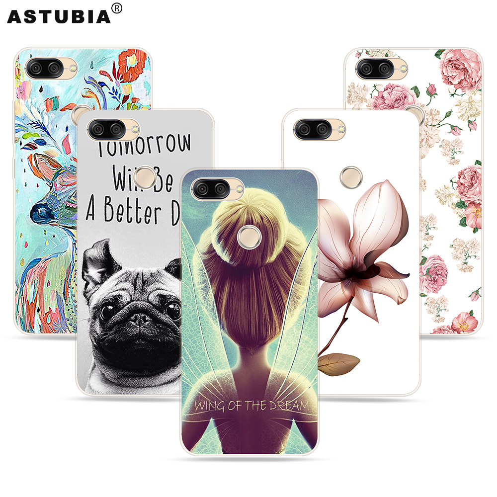 ASTUBIA Cover For Asus ZenFone Max Plus M1 ZB570TL Case Siliocne Cute Wings Girl Dog Case For Zenfone Max Plus M1 X018DC ZB570TL