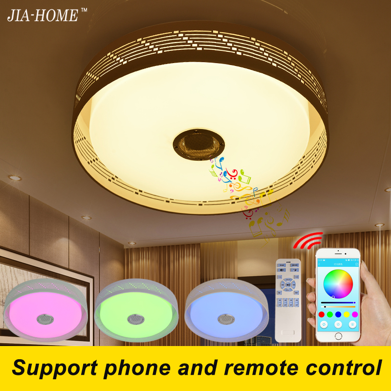 bluetooth Led light ceiling with phone and remote control loudspeaker round flush mount light for lampara de techo abajur keyshare dual bulb night vision led light kit for remote control drones