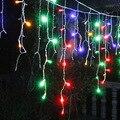 Lámparas de luces de la secuencia del led luces de hadas de Navidad Carámbano Luces de Navidad Del Banquete de Boda Decoración Conectable 3.5 M led cortina carámbano