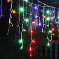 string lights led  fairy lights Christmas lamps Icicle Lights Xmas Wedding Party Decoration Connectable  3.5M led curtain icicle
