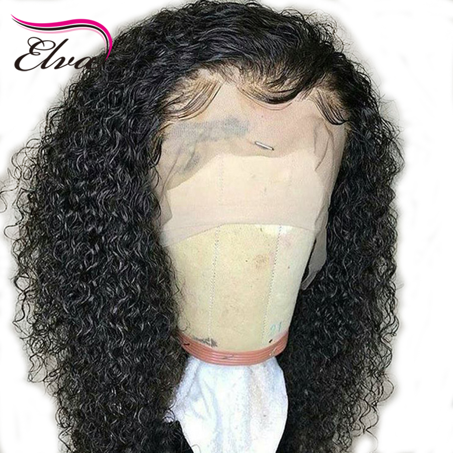 Elva Hair 13*6 Deep Parting 150% Density Lace Front Human Hair Wigs Curly Wig Front Lace Wig For Women Brazilian Remy Hair Wig
