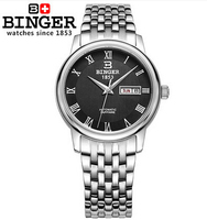 2017 New Binger Watch 8 Color Mens Watches Top Brand Luxury Hot Selling Luxury Japan Movement Material Wristwatch with Calendar
