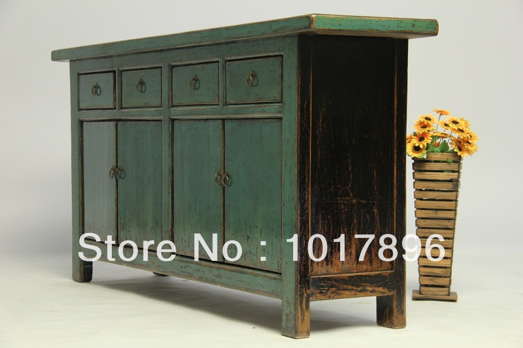 4 Door 4 Cabinet Old Elm Solid Wood Cabinets Hall Cabinet