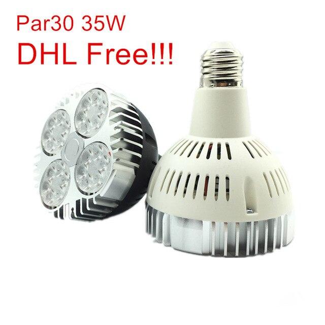 LED Par30 35W Spotlight Par 30 Bulb Light E27 Indooor high power Lamp black white body