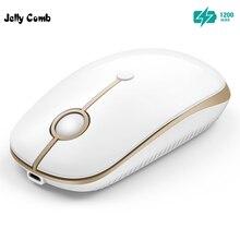 Jelly Comb Notebook ładowalna mysz bezprzewodowa mysz dla Microsoft Smart TV Laptop PC mysz optyczna ciche kliknięcie przenośne myszy