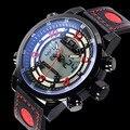 Luxury Brand Мужчины Военный Часы мужские Кварцевые Часы LED Цифровые Часы Полный Стали Наручные Часы Мужчин Спортивные Часы