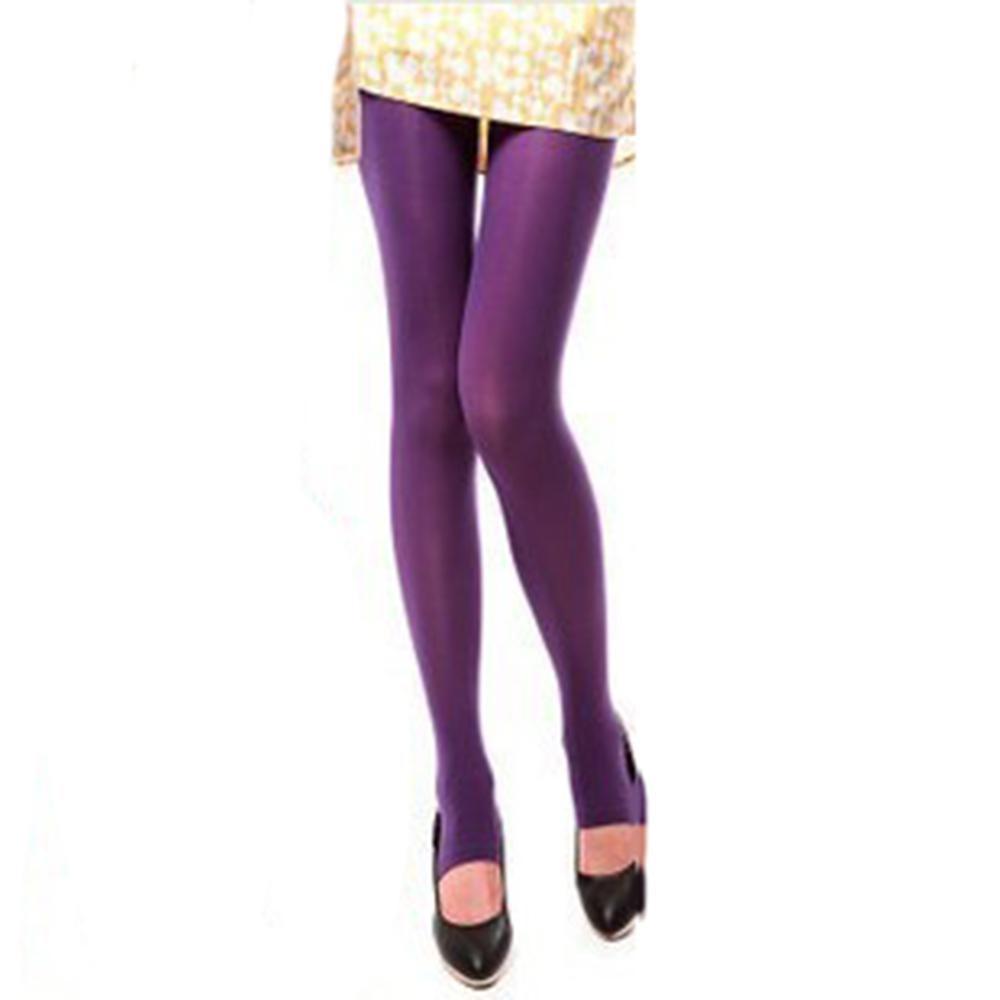 Сексуальные женские колготки, теплые бесшовные колготки 120D, бархатные эластичные колготки Strumpfhose Collant Femme Medias - Цвет: Фиолетовый