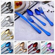 5 шт./компл. 4 шт./компл. белые пластиковые столовые приборы в комплекте в разных расцветках, ужин набор столовых приборов вилка нож ложка чайная ложка наборы Кухонные Принадлежности