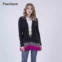 Весенний женский свитер большого размера из натуральной шерсти, цветной кашемировый вязаный свитер с длинными рукавами, зимнее пальто