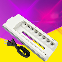 8 Slots Smart Charger For AA/AAA Ni MH/Ni Cd Battery Rechargeable Fast Charging Battery Charger With Wired Plug EU/US/UK/AU Pulg