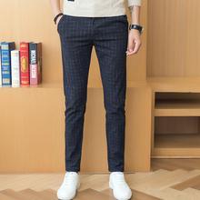 New Plaid Men Casual Trousers Business Banquet Wedding Men s Dress Trousers Size 28 38 Slim