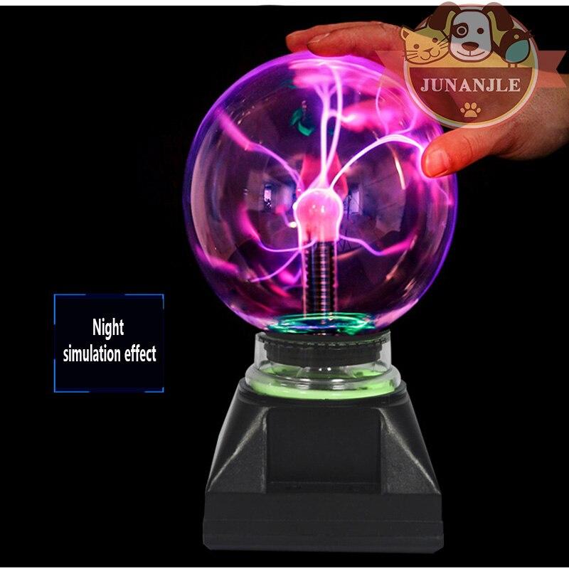 Boule de lumière sphérique électrique boule de lumière en cristal magique bureau foudre fête de noël tactile lumière sensible boule de foudre magique