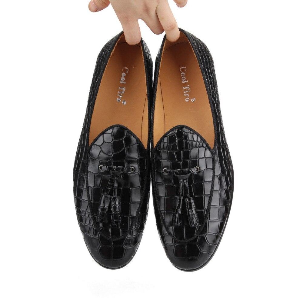 Borla E Men Partido Britânico Fumar Legal marrom Loafers Com Estilo De Tiro On Flats Pedra Casamento Slip Do Padrão Sapatos Decoração Preto Preto Homens xqvzpYqHf