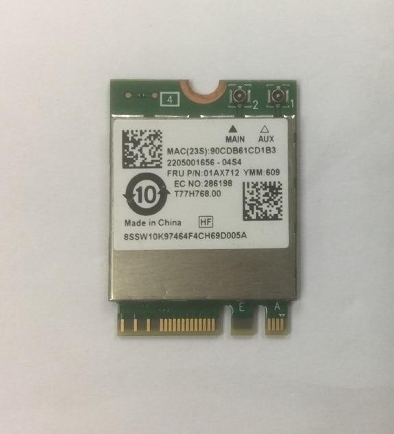 Новая карта SSEA для Realtek RTL8822BE NGFF 802.11ac 2,4G/5 ГГц Wifi Bluetooth 4,1 карта для Thinkpad L470 L570 FRU 01AX712