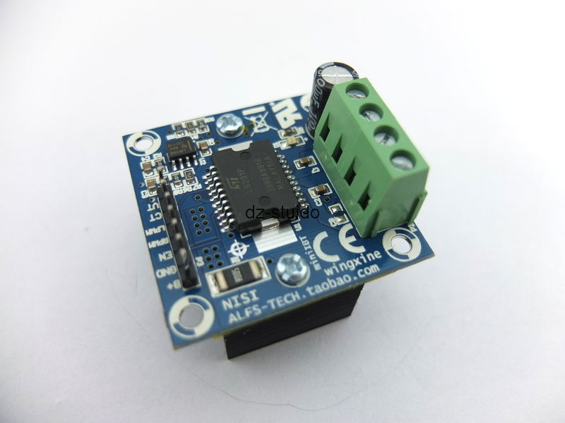 DC 12-30V 5A H-bridge Brush Motor Driver PWM Brake For Smart Car