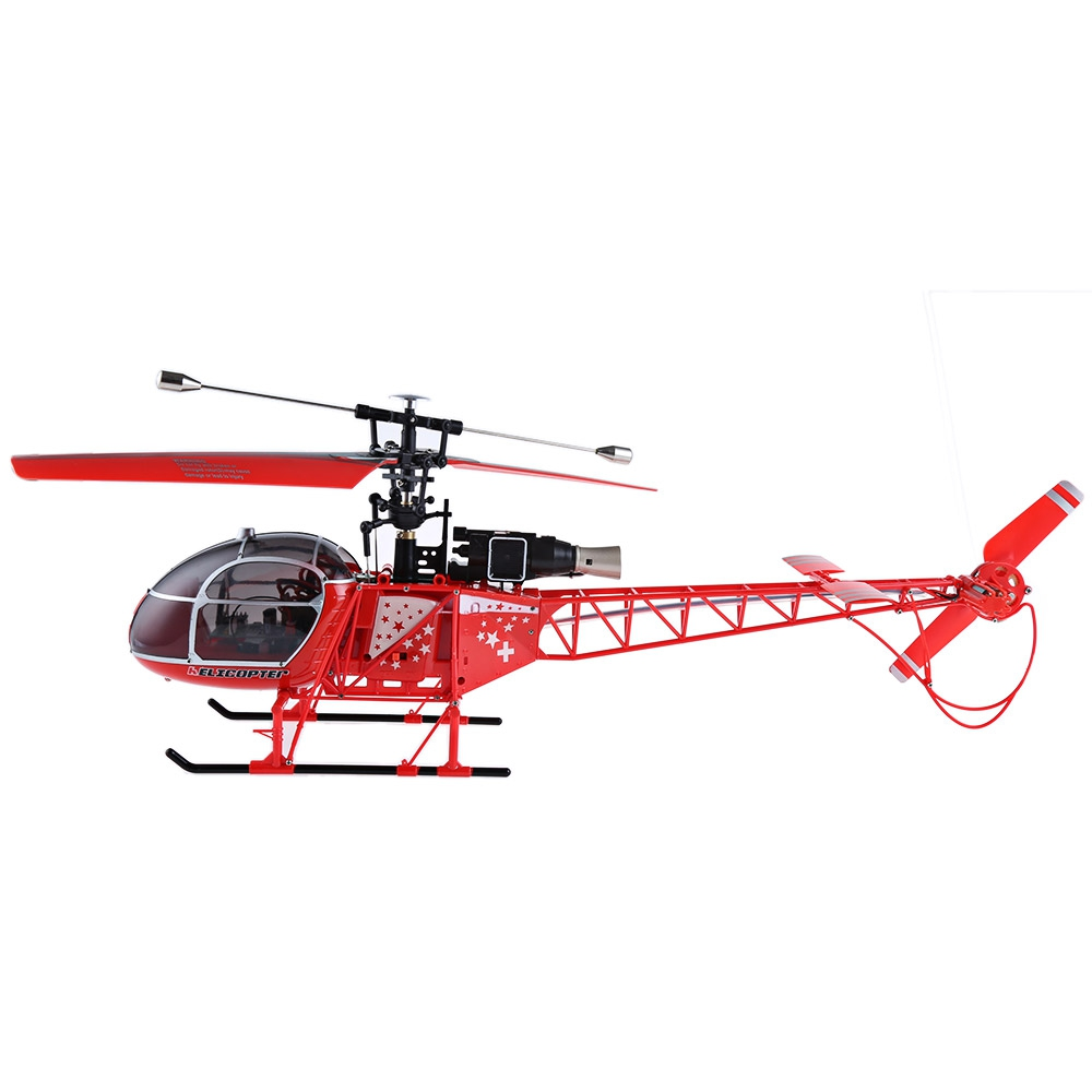 WLtoys RC Helicoter 4CH 2.4G Built-in 6 Axis Gyro 2 Modes Helicopter Single Propeller High Simulation RTF Brush Motor Aircraft
