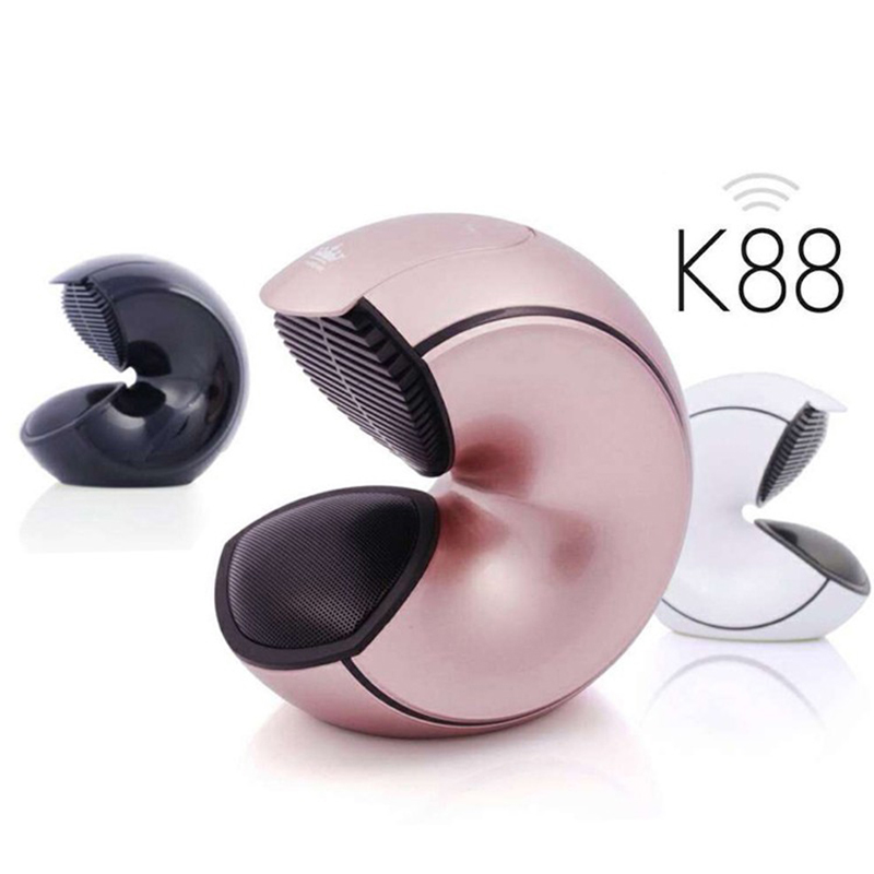 K88 Bluetooth Haut-Parleur Conque Style Portable Super Bass Subwoofer mains libres Mic TF carte jouer Livraison Gratuite Pour Smart téléphone