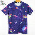 ZiLingLan Flower Brand clothing  High Quality Tops Tees Men's Cotton Short Sleeves T-shirt Casual  3D Print T shirt Short Sleeve