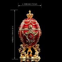 QIFU Hot selling gifts Large Royal Red Imperial Easter Egg style money box