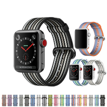 все цены на Woven Nylon strap For Apple Watch 4 band 44mm 40mm 42mm/38mm iwatch series 3 2 1 wrist bracelet fabric-like belt correa онлайн