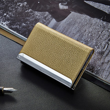 Wholesale Fashion ID Card Holder Wallet Leather Business Women Men Credit Travel Name Organizer