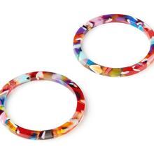 Acetate Acrylic Earring Charm - Circle Shaped Charm - Jewelry accessori