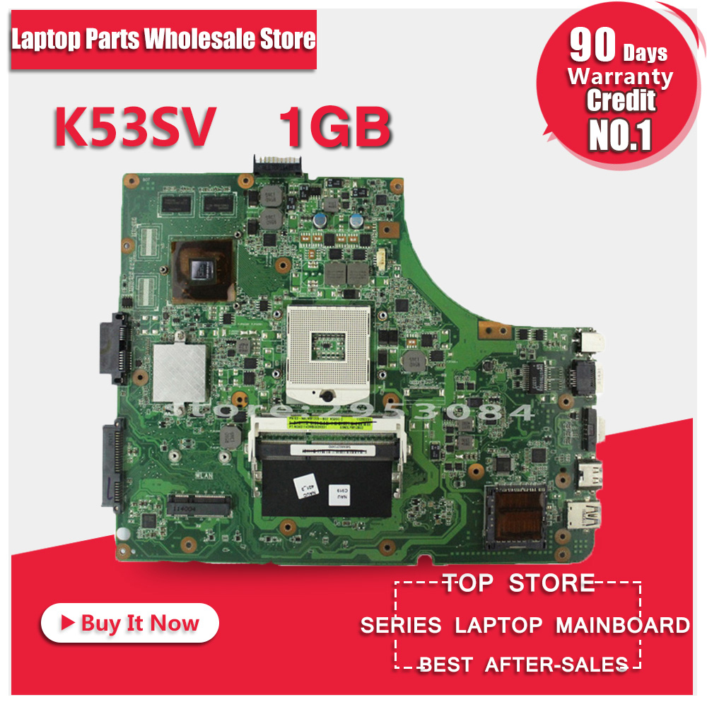 Free Shipping New Laptop Motherboard K53SV REV : 3.0 3.1 2.3 2.1 Fit For ASUS K53S A53S X53S P53S Notebook N12P-GS-A1 GT 540M
