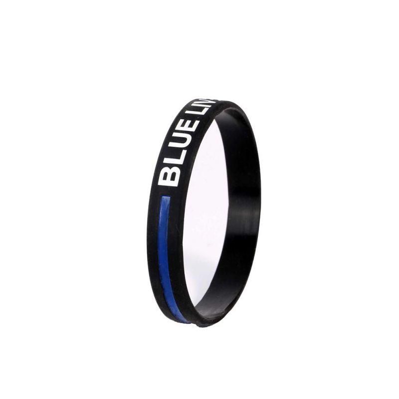 3PCS Blue Lives Matter Wristband For Adults Police Officers Patrol Awareness Support And Outdoor Sports Outdoor