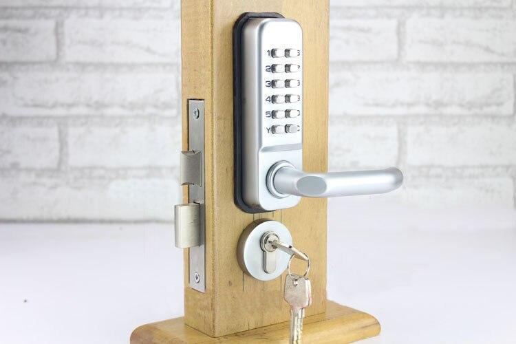 LHX Waterproof Lever Handle Mechanical Code Door Lock With Keys ...