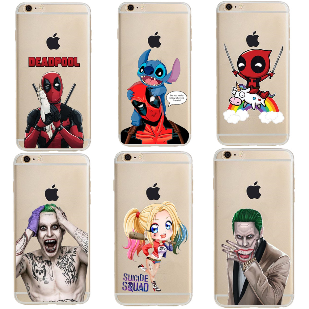 Deadpool and Stitch Suicide Squad Joker Harley Quinn Soft