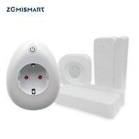Door Sensor PIR Motion Detection EU Outlet with USB Charing Port Power Statistics Function Alexa Google Home Enable