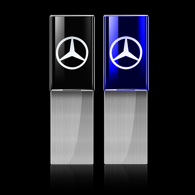 USB 2.0 Flash Memory Drive With Mercedes Logo