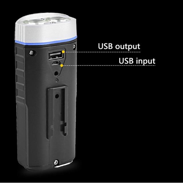 USB charge vélo lumière tête lumière vélo lumière twin T6 lampe déclairage 1000 Lumens