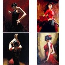 Canvas painting for bedroom Portrait art Tango Dancer home decor handmade High quality