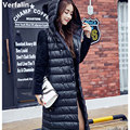 Verfalin Down Parka Jacket Coat Women Winter Jacket Female Long Coat Jacket Mink Velvet Sleeve Thick Warm Hoody Winter Down Coat