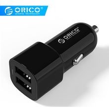 ORICO 2 Ports USB Car Charger Adapter Dual Ports 5V2.4A17W Mini Charger Cigar Socket for iPhone 7 Samsung Galaxy S6 Edge Xiaomi(China)