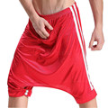 Nova marca Sexy Men Mens Pijama Sexy Sleepwear Calças de Salão Crotchless Casual Loungwear Sono Solto Inferior Plus Size XL