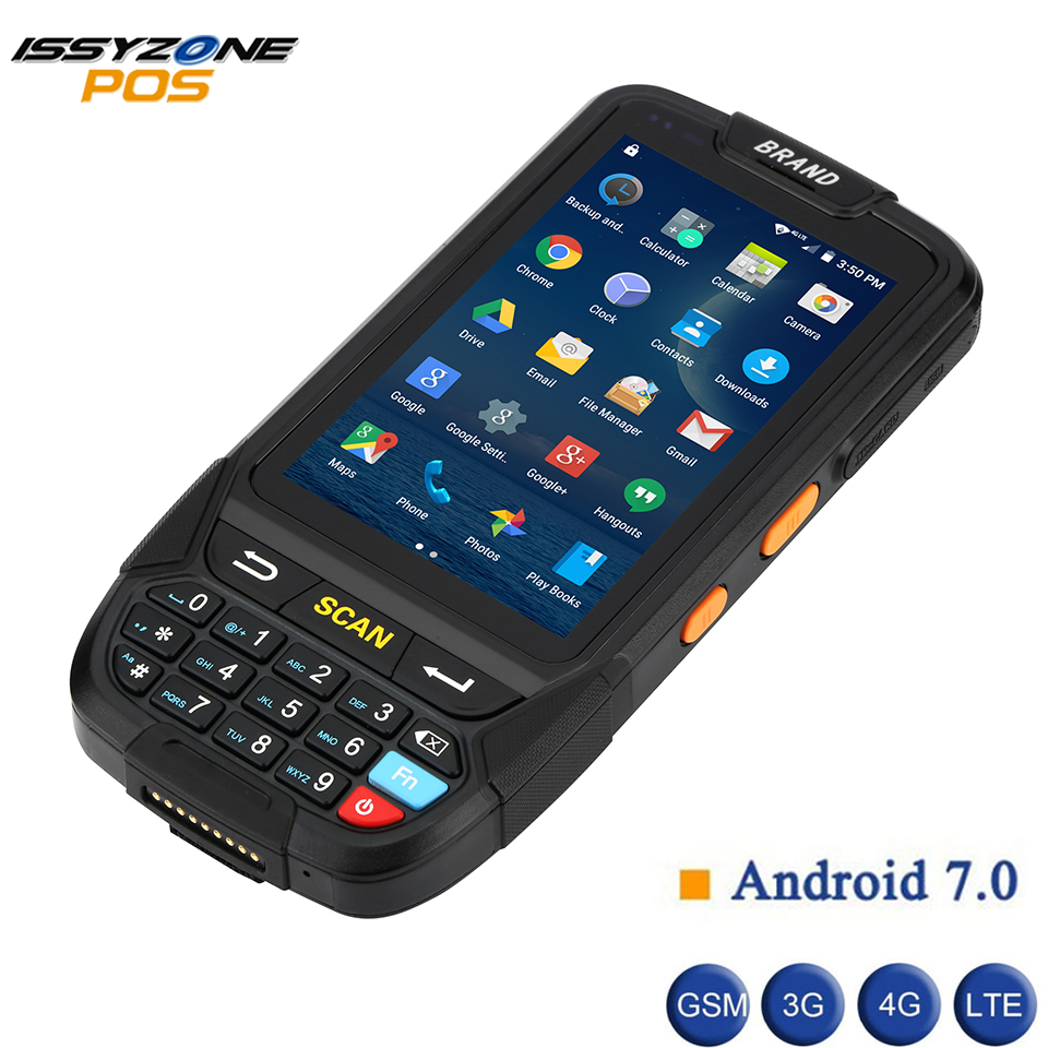 IssyzonePOS PDA Terminal 1D 2D Barcode Reader Android 7 Data Collector Wifi Bluetooth for Inventory Management