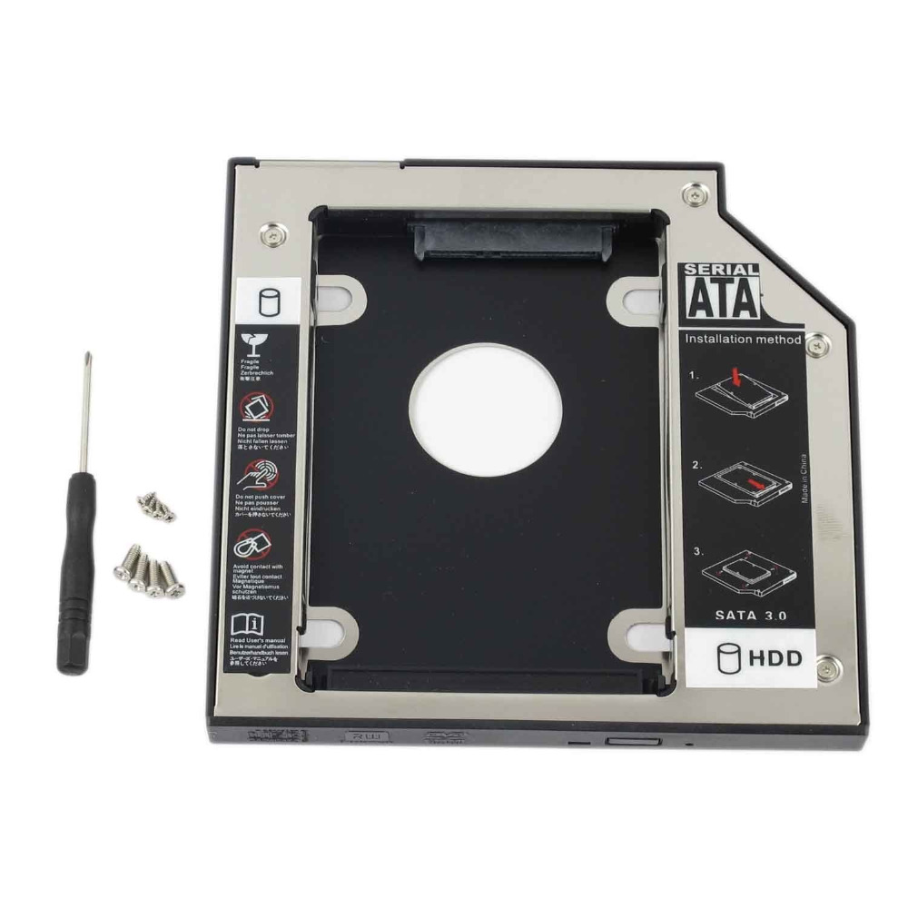 WZSM New 9.5mm 2nd SATA HDD SSD Hard Disk Drive Caddy for <font><b>Acer</b></font> 4810tg <font><b>4820tg</b></font> 4830tg 5830tg bracket With screw image