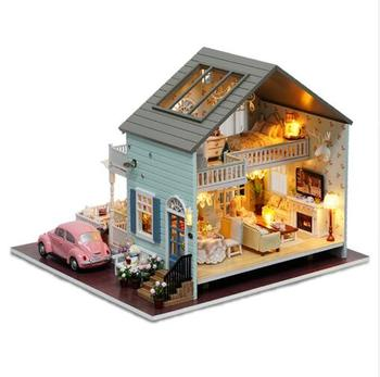 Handmake Queens Town DIY Dollhouse Room Miniature Model With Light Music Collection Xmas Birthday Party Gift for Adult and Kids