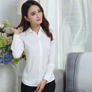 3bbb67a8579 ROPALIA плюс Размеры Для женщин белая блузка с длинным рукавом женская  шифоновая рубашка тонкий спецодежды ПР блузка Модные топы