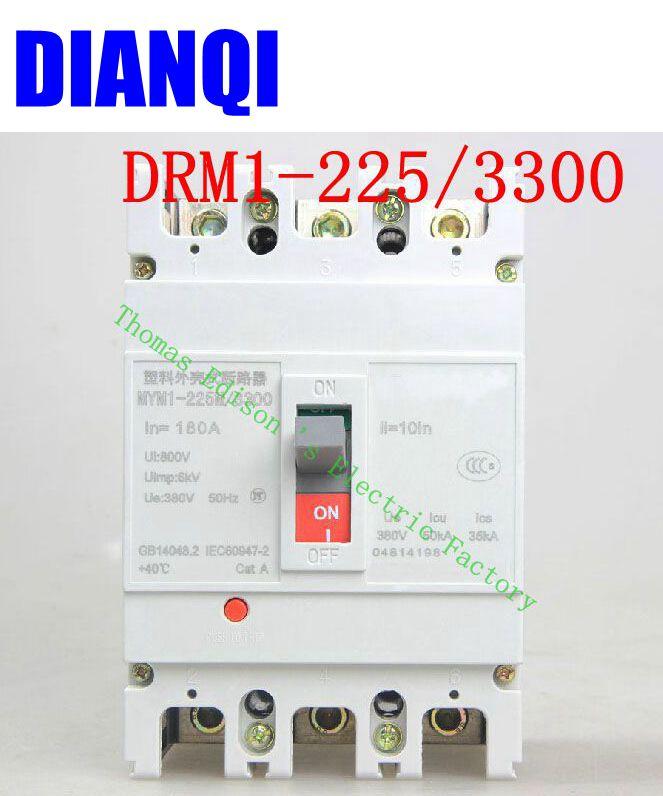 CM1-225/3300 MCCB 100A 125A 160A 180A 200A 225A molded case circuit breaker CM1-225 Moulded Case Circuit Breaker 400 amp 3 pole cm1 type moulded case type circuit breaker mccb
